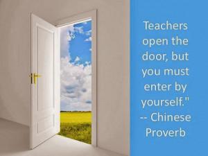 Teachers open the door,