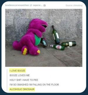 Barney The Dinosaur Memes Barney's wild night