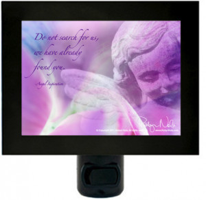 "Inspirational Angel Quote"" Angel Night Light"