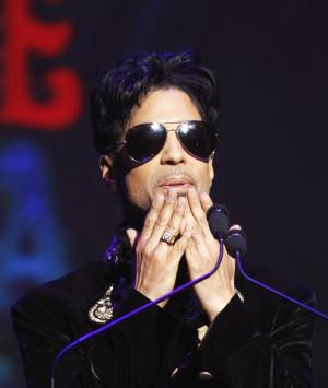 Singer Prince Gestures...