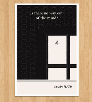 Illustrated Sylvia Plath Quote Print | Art Prints | Obvious State ...