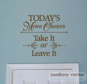 ... on Kitchen Wall On Grandmas Kitchen Vinyl Wall Art Decals Words Quotes