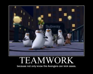 Penguins of Madagascar Teamwork motivational