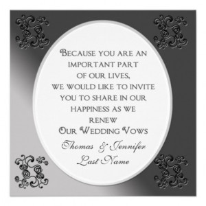 Renewing Wedding Vows - Invitation - Charcoal from Zazzle.com