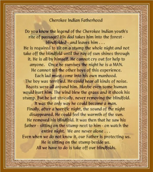 cherokee indian pictures and quotes | Cherokee Indian Fatherhood Image ...