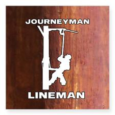 Journeyman Lineman Electric Pole Sticker for