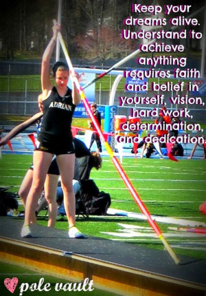 Pole Vault....that's my sister :)