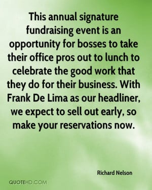 This annual signature fundraising event is an opportunity for bosses ...