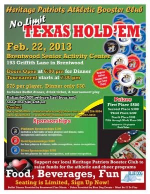 Texas Holdem Poker Flyer...