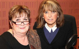BBC Radio 4 Woman's Hour presenter Jenni Murray and Eve Pollard ...