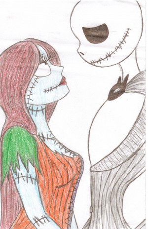 jack and sally Love by jackfreak1994