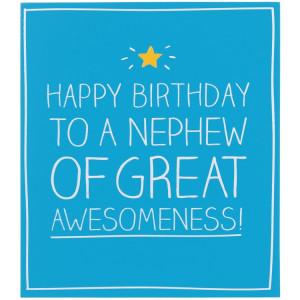 Happy Jackson Happy Birthday Nephew of Great Awesomeness! Card