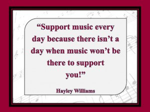 Support music quote