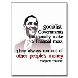 Thatcher socialist quote postcards