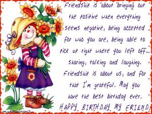 Birthday wish for a friend