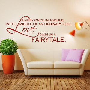 Home / Love Gives Us A Fairy Tale Wall Sticker Love Quote Wall Art