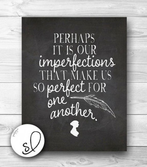 Perfect For Each Other Jane Austen Quote Chalkboard by SpoonLily, $5 ...