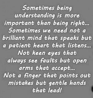 Love Quotes understanding brilliant speaks patient heart listens