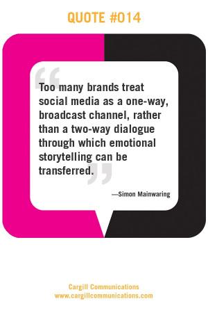 ... can be transferred simon mainwaring # quotes # socialmedia # branding