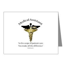 Medical Assistant Note Cards (Pk of 10) CD for