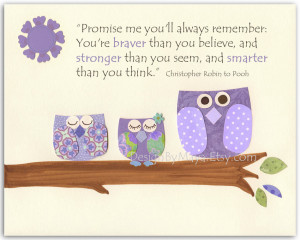 Owl From Winnie The Pooh Quotes Owls quote: promise me