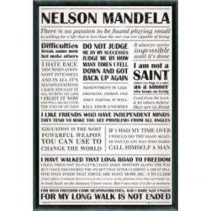 ... Encadré: Nelson Mandela - Quotes (91x61 cm), Cadre Plastique, Noir