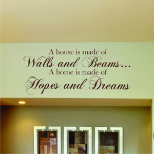 Details about HOPES & DREAMS WALL STICKER QUOTE ART Home Vinyl Kitchen ...