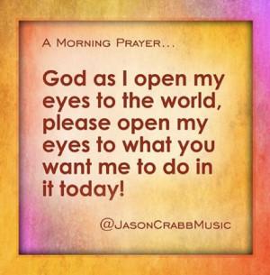 God as I open my eyes...