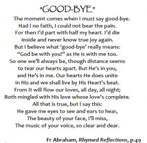 Images for Goodbye Friend Poems