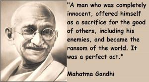 Mahatma Gandhi Quotes:-