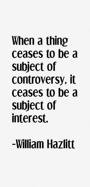 William Hazlitt Quotes & Sayings