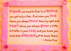 Friends are Hard to Find ~ Friendship Quote