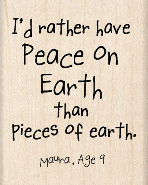 quotes about peace on earth | ... Quotes Collection - Christmas - Wood ...