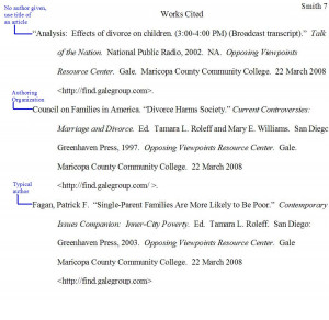CREATE A WORKS CITED PAGE