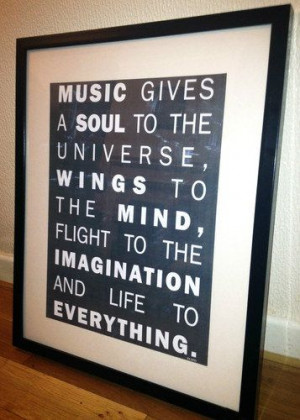 A3 Poster - Inspirational Quotes - Plato - Music gives a Soul to the ...