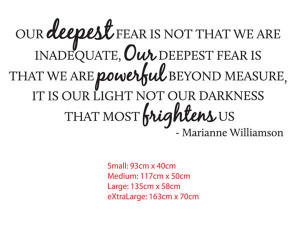 our deepest fear quote