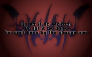 Creeping Death - Metallica Song Lyric Quote in Text Image