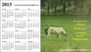 Big 2013 Calendar with quotes