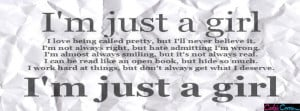 Just A Girl Facebook Covers