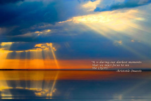 Light Quote Aristotle Onassis Photograph