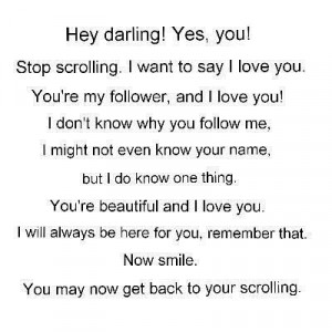 Hey darling quote