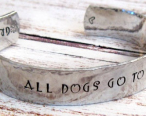 ... Stamped Personalized Cuff Bracelet - All Dogs Go To Heaven, Angel Dog