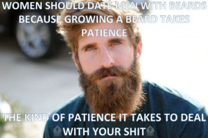 Growing a beard takes patience