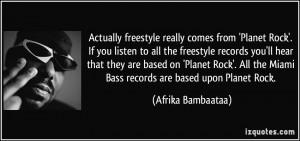 More Afrika Bambaataa Quotes