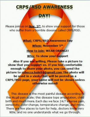 Pinned by CRPS Warrior