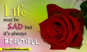 life sad beautiful quotes status