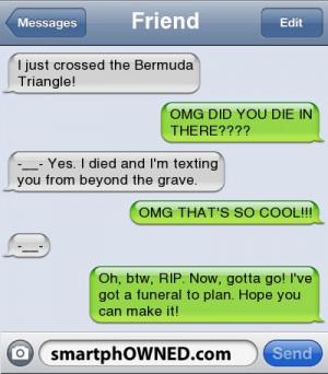 FriendI just crossed the Bermuda Triangle! | OMG DID YOU DIE IN THERE ...