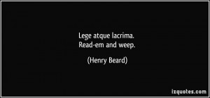 More Henry Beard Quotes