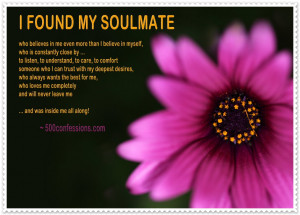 Found My Soulmate … - Written by Elizabeth Richardson
