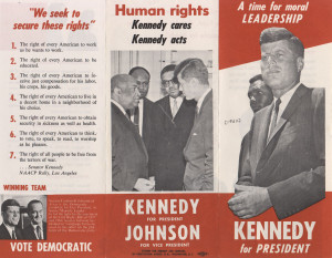 brochure paints Kennedy as being ready to act for Civil Rights; quotes ...